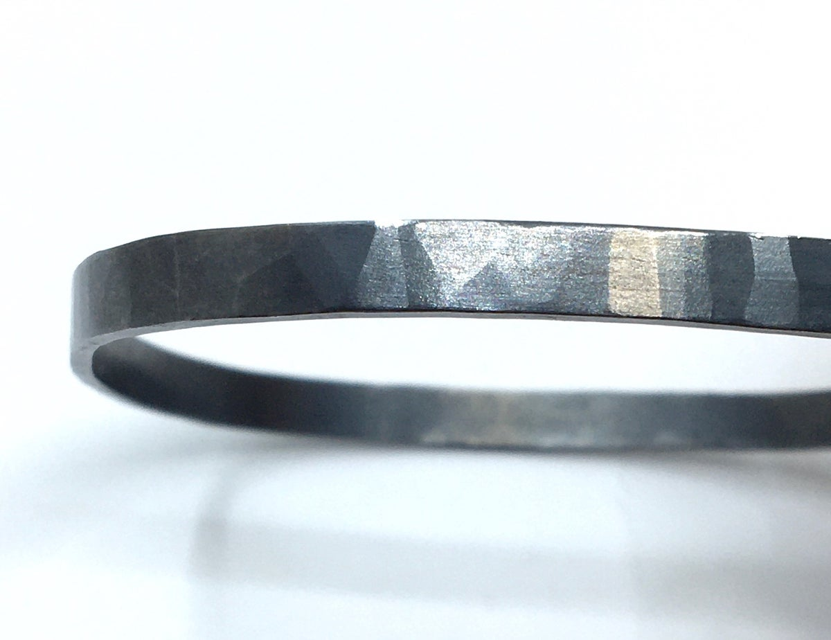 **30% Off** Oxidized Square Bangle by Colleen Mauer