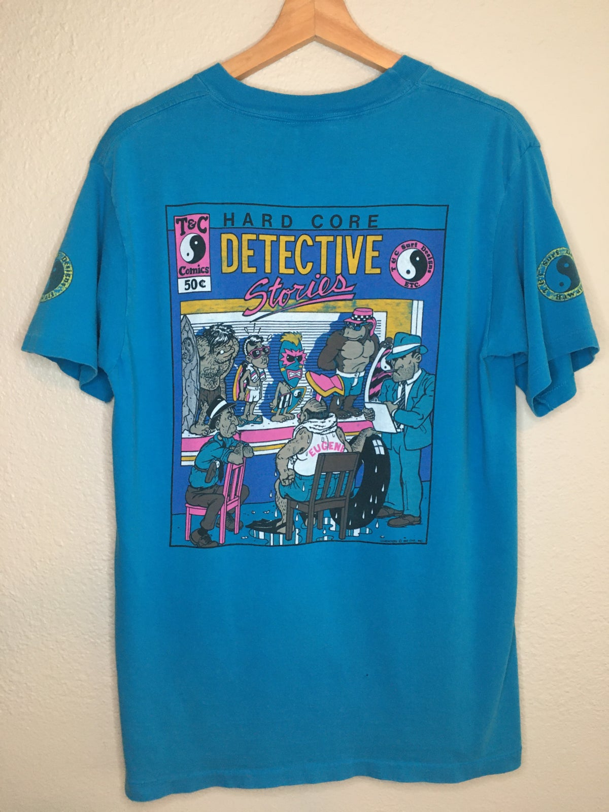 1987  Rare T&C Surf Detective Stories Tee