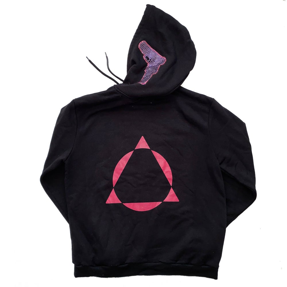 Image of PROTECTION HOODIE PINK LOGO