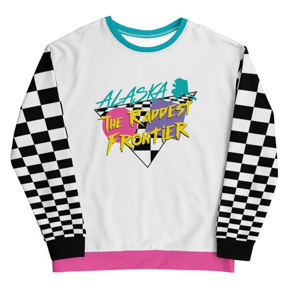 "Image of ""The Raddest Frontier"" Retro Sweatshirt"