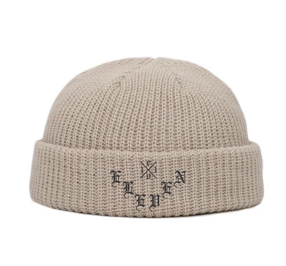 Image of Cream X Logo co.11 Olde E Beanie (C)