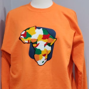 Image of Africa Denim Patch Sweatshirt