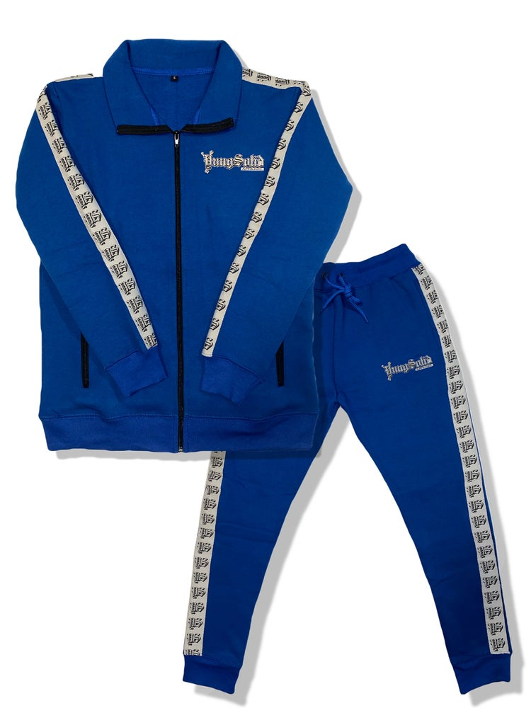 Image of Blue YS Unisex Sweat suit