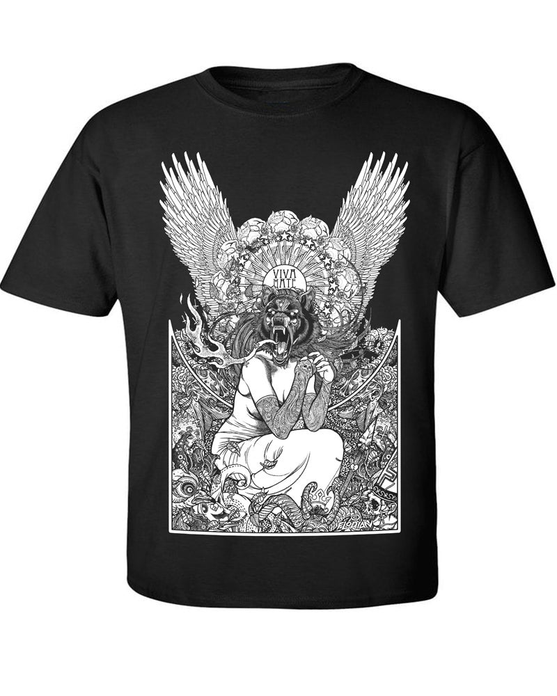 "Image of ""Howling Wolf"" Black Shirt"