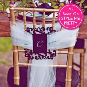 Image of Flourish Monogram Luxecut™ Chair Tie