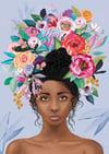 Nylah Cornflower Blue - Art Print