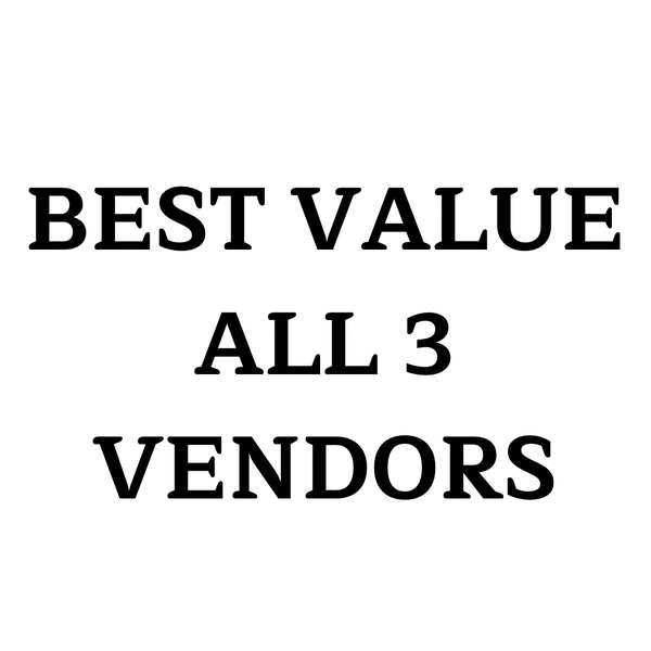 Image of **BEST VALUE** ALL 3 VENDORS