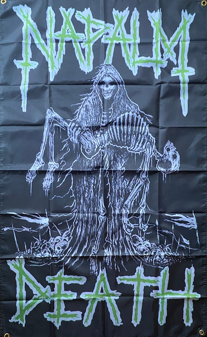 """Image of Napalm Death """" Life """"  Flag / Banner / Tapestry"""