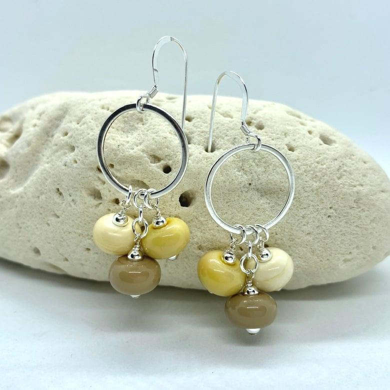 Image of Stone Path Triple Earrings
