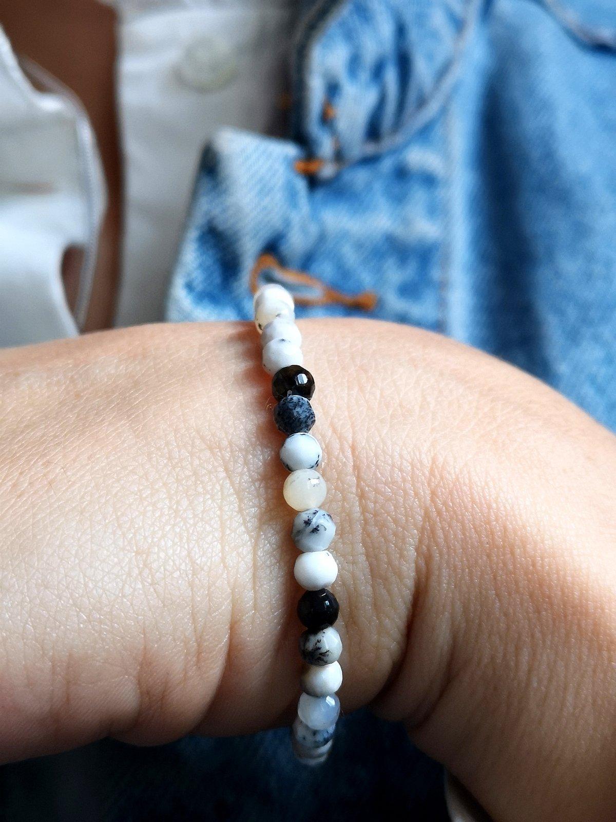 Image of Bracelet merlinite à facettes
