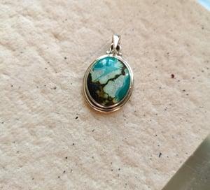 Image of Pendentif turquoise du tibet ref. 5870