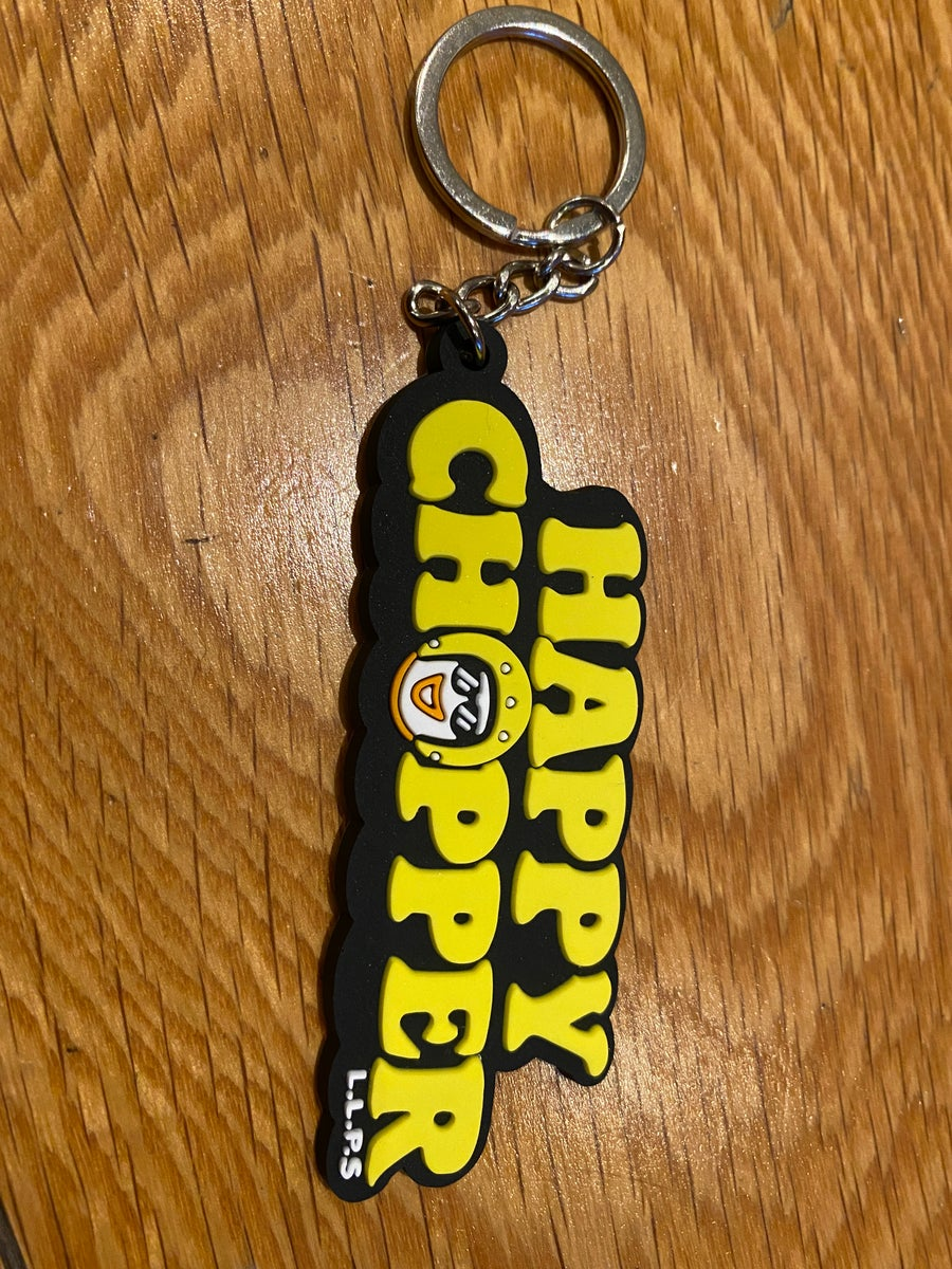 Image of Happy Chopper Keyring