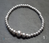 Sterling silver round and flat bead bracelets  Image 2