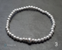 Sterling silver round and flat bead bracelets  Image 4