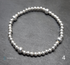 Sterling silver round and flat bead bracelets  Image 5