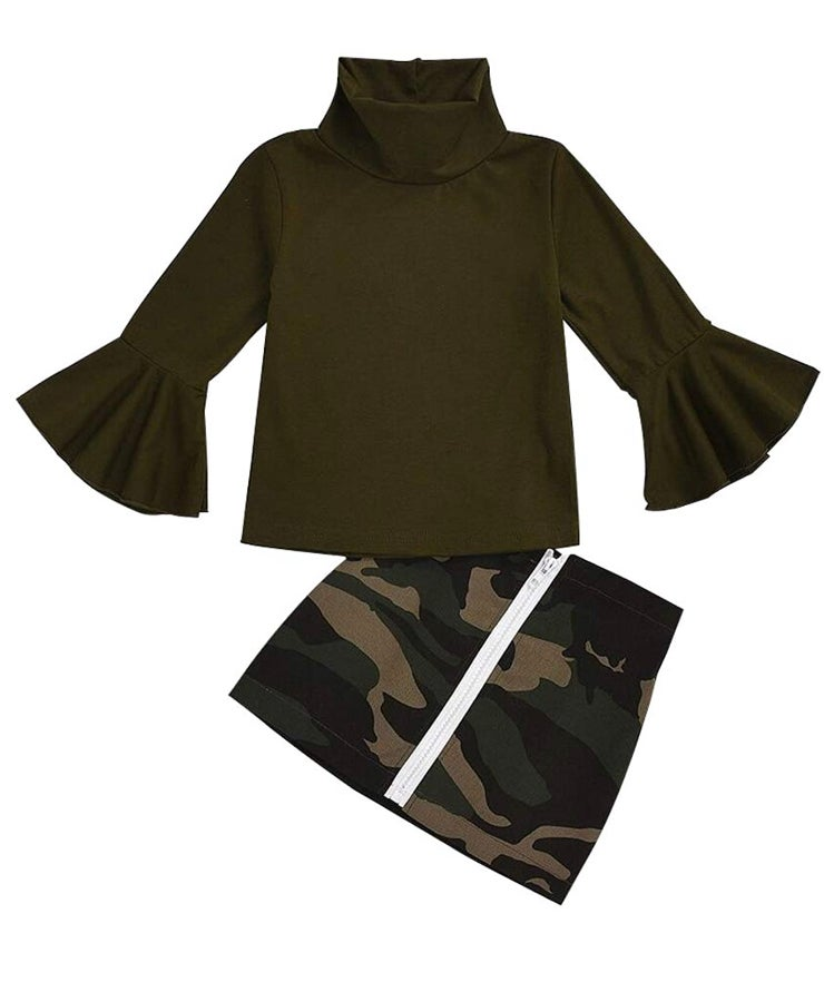 Image of Camouflage skirt set