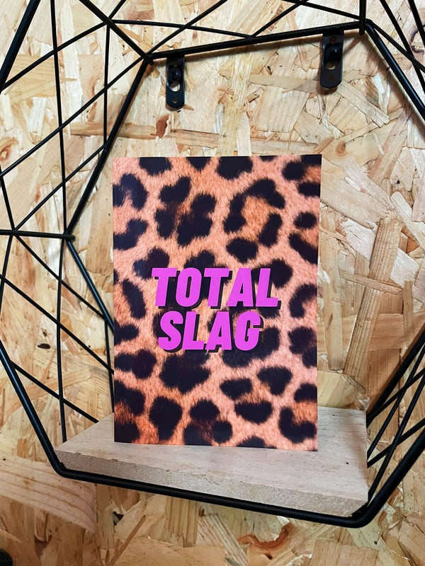 Image of 'Total Slag' Greetings Card