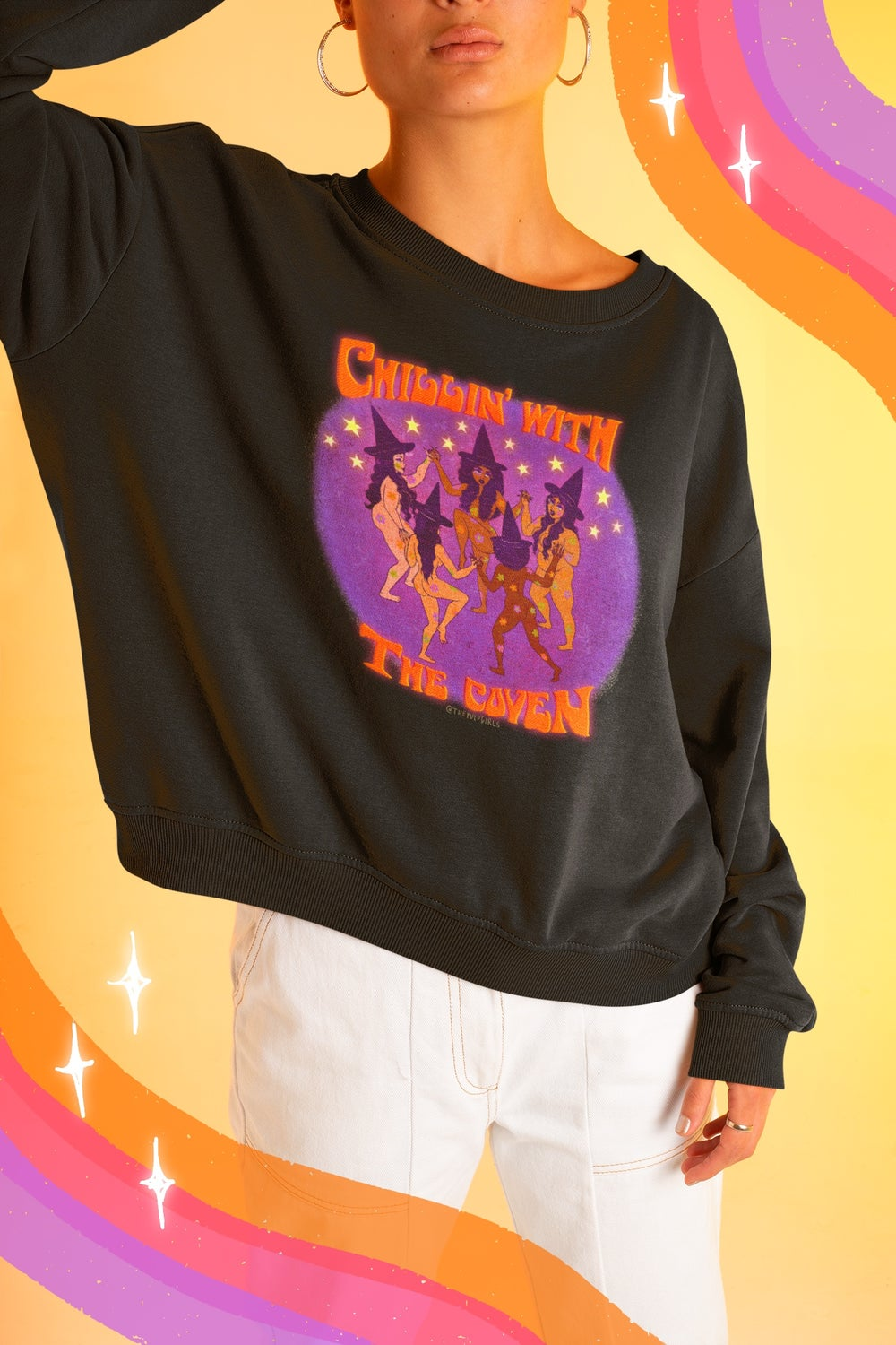 Image of CHILLIN' WITH THE COVEN CREW SWEATSHIRT
