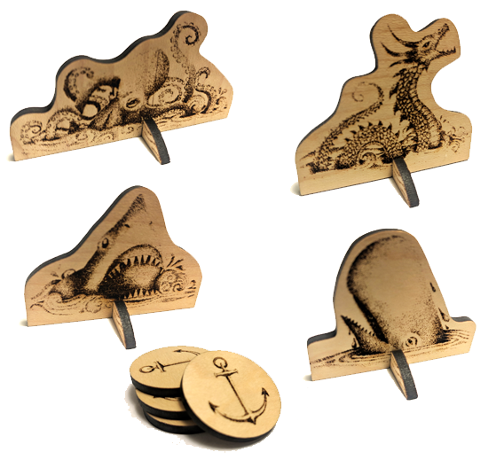 Image of Tricky Tides - Deluxe Wood Pieces