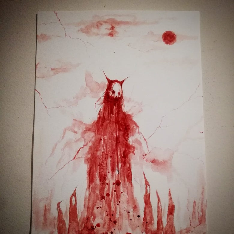 Image of Desolate blood painting