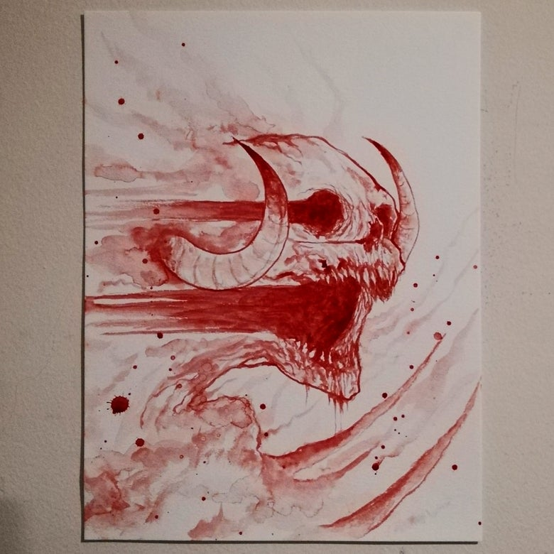 Image of Melissa blood painting