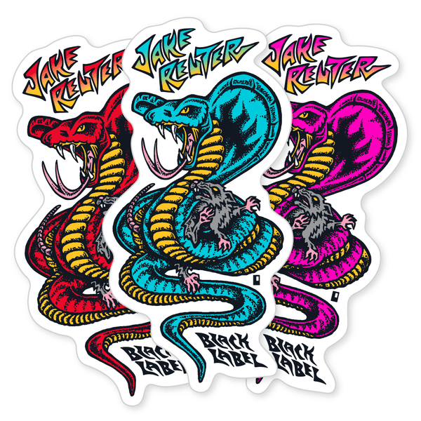 "Image of Jake Reuter ""Snake and Rat"" Sticker"