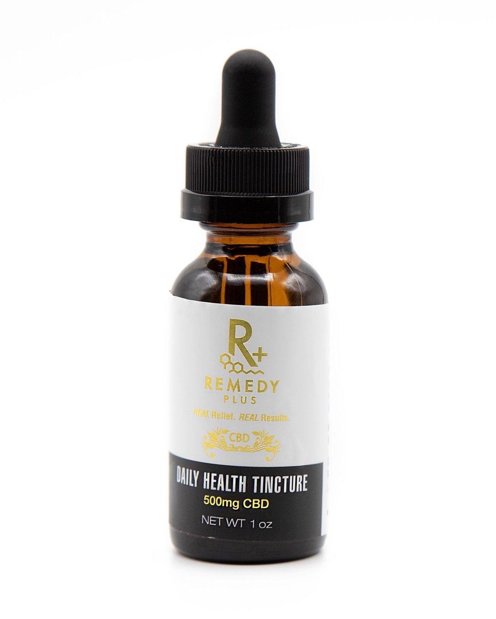 500mg *NO THC* - Daily Health Tincture -  Remedy + CBD