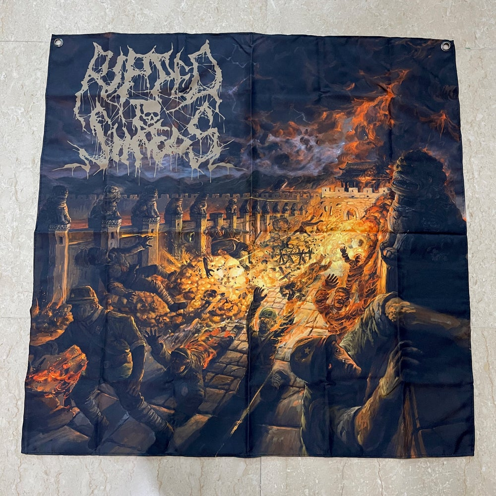 """RIPPED TO SHREDS """"亂 (Luan)"""" Poster Flag"""