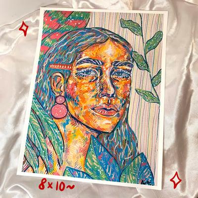 Image of plant portrait print