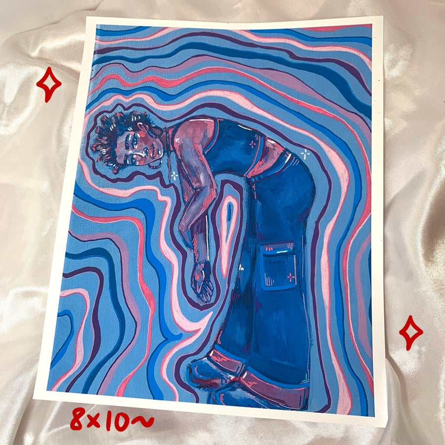 Image of abstract figure print