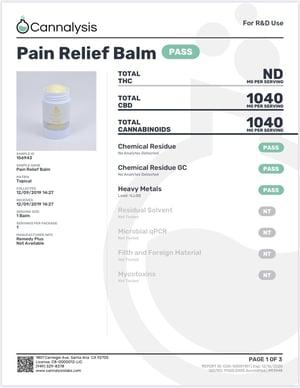 Remedy+ CBD Pain Relief Balm 1000MG