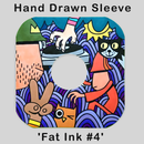 Image of HAND DRAWN RECORD SLEEVE  'FAT INK #4' (1 of 1)