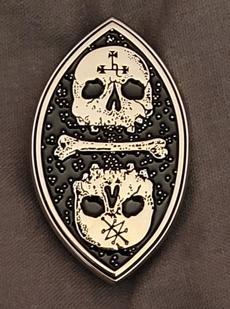 Image of Invocation(Seal of Lilith)limited edition shaped enamel pin