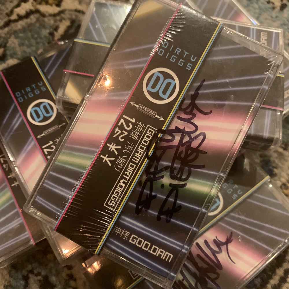 """GOD.DAM[神のダム]"" by DirtyDiggs on LTD Cassette (Signed) + Digital Download"