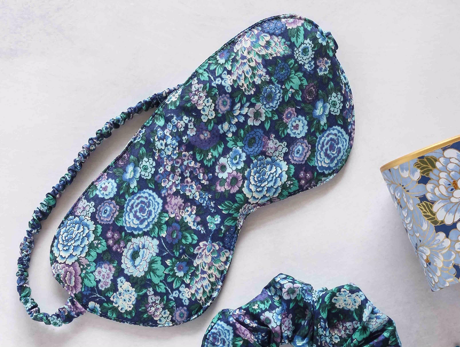 Image of Sleep mask * Eloise * Aubergine