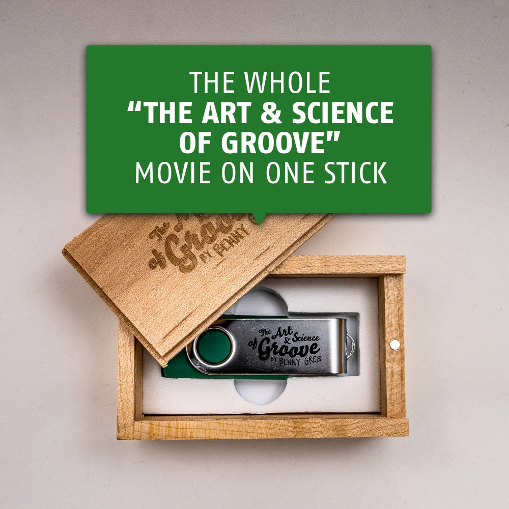"""Image of The whole """"The Art and Science of GROOVE"""" movie on one stick"""