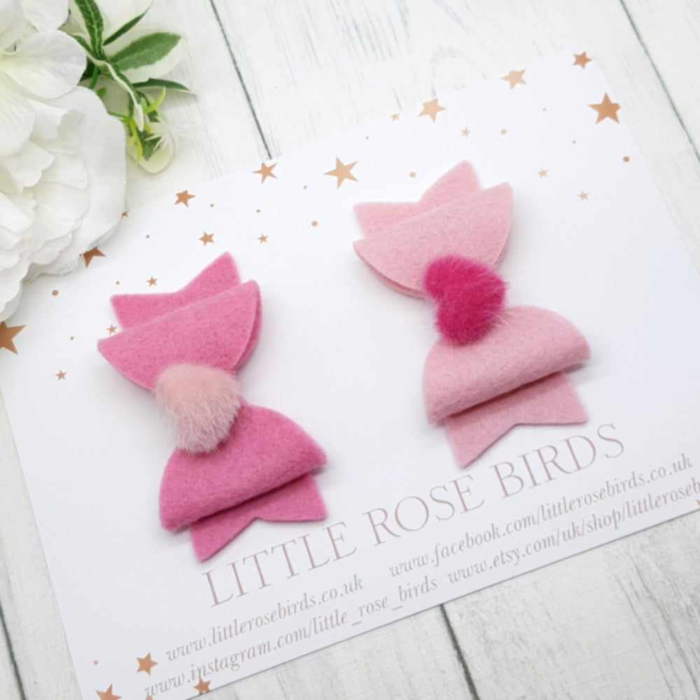 Image of Oh So Sweet Fluffy Heart Bows