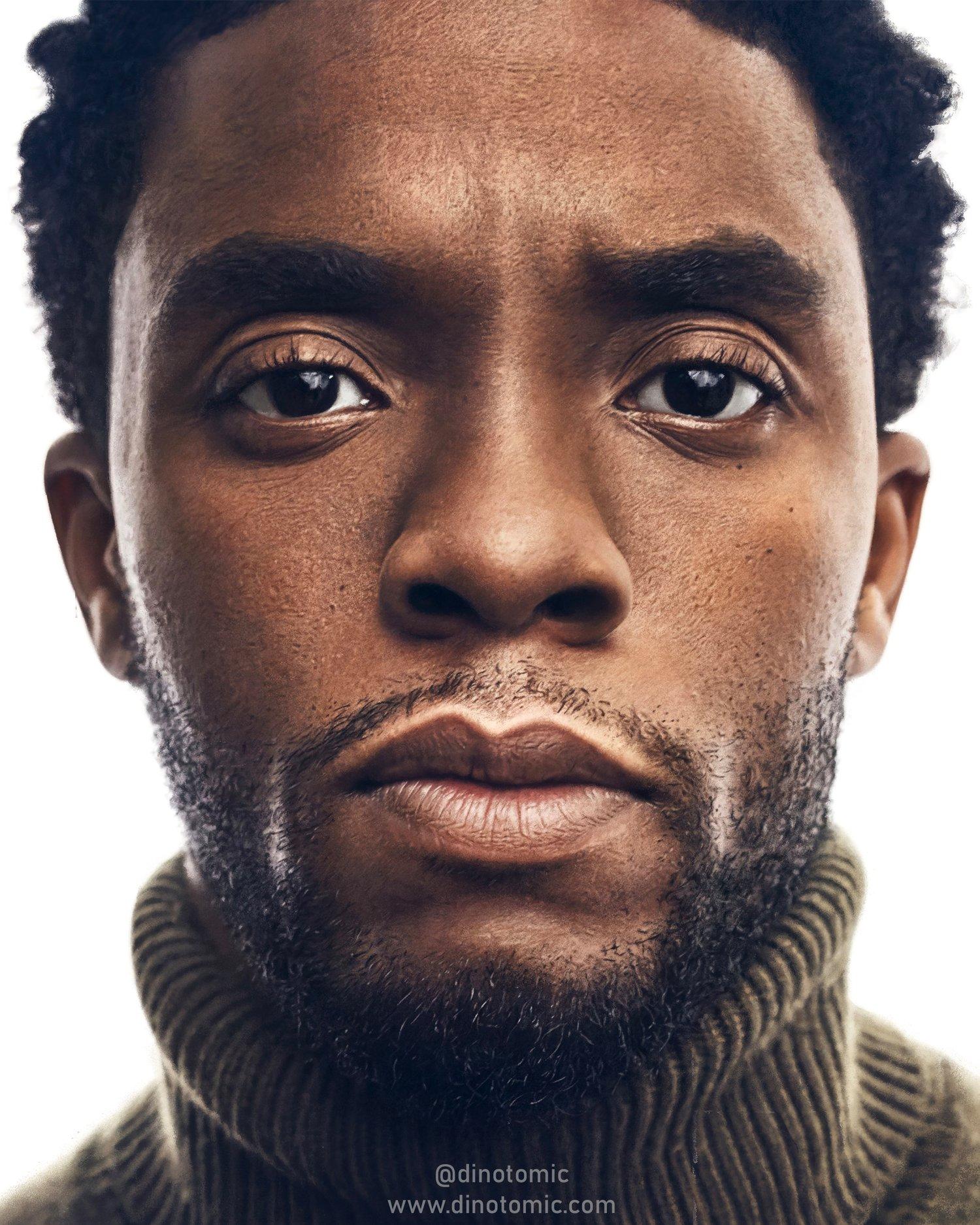 Image of #289 Chadwick Boseman realistic painting