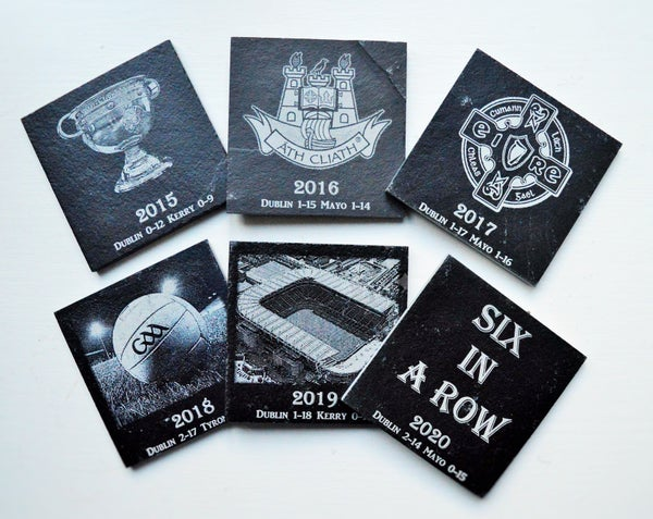 Image of Dublin Football Champions Six in a Row - 6 piece Coaster Set