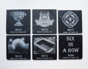 Dublin Football Champions Six in a Row - 6 piece Coaster Set