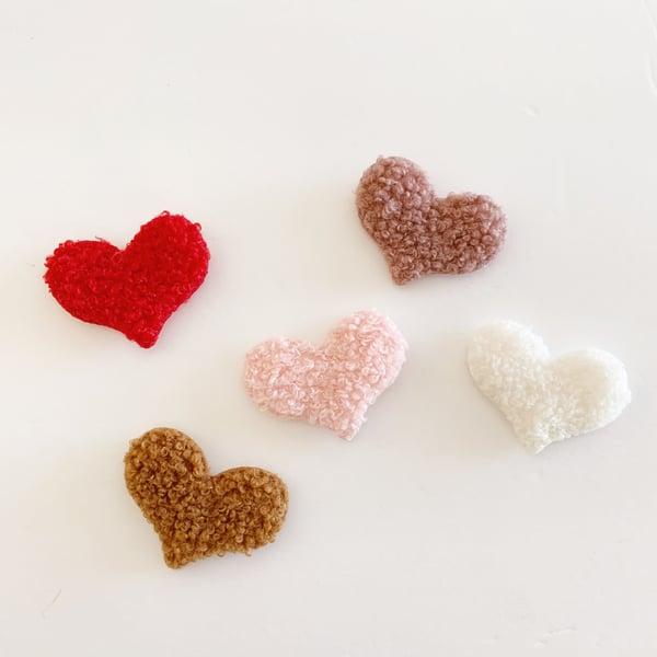 Image of Miniature Sherpa Heart Pillows