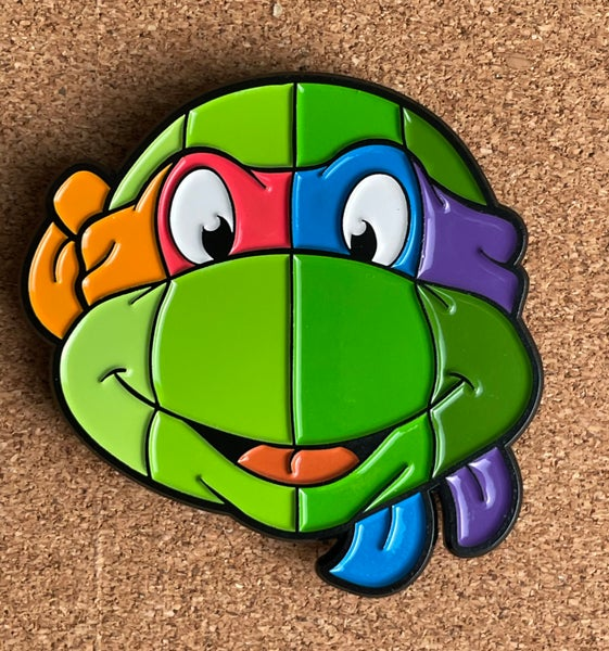 "Image of 2"" 4-in-1 Turtle Face Soft Enamel Pin"