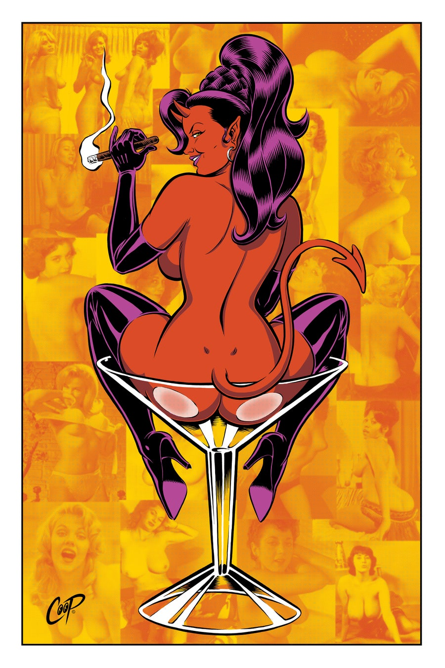 "Image of DIRTY MARTINI 20""x 30"" Silkscreen Print"