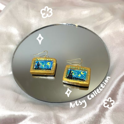 Image of framed starry night dangles