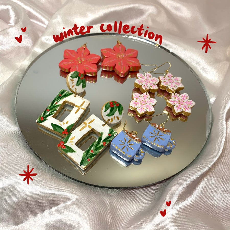 Image of winter collection earrings
