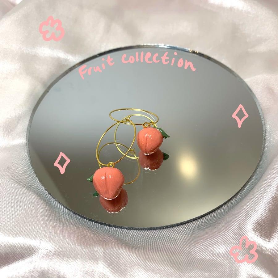 Image of peach hoops