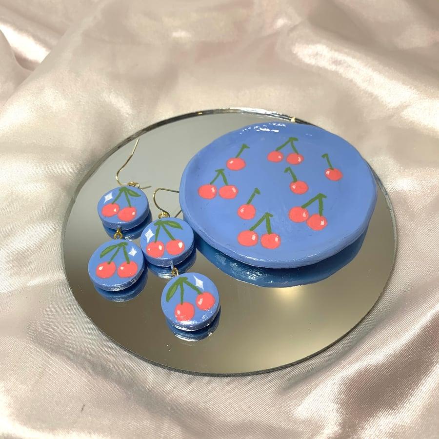 Image of jewelry dish & earrings bundle