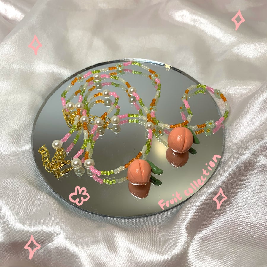 Image of peach necklace