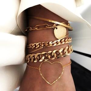 Image of Bracelet REVERENCE Plaqué or