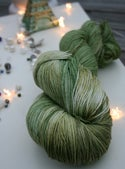 Paint + Rinse series - hand painted/dyed yarn - Greenfest